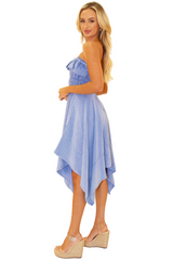 NW1095 - Blue Cotton Dress
