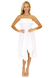 NW1095 - White Cotton Dress