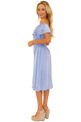 NW1098 - Blue Cotton Dress