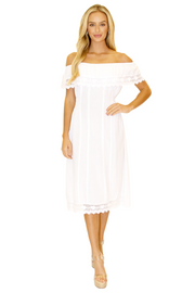 NW1098 - White Cotton Dress