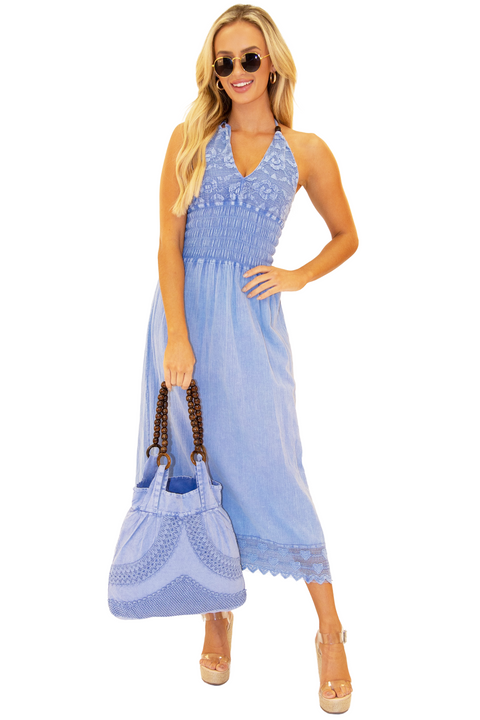 NW1099 - Blue Cotton Dress