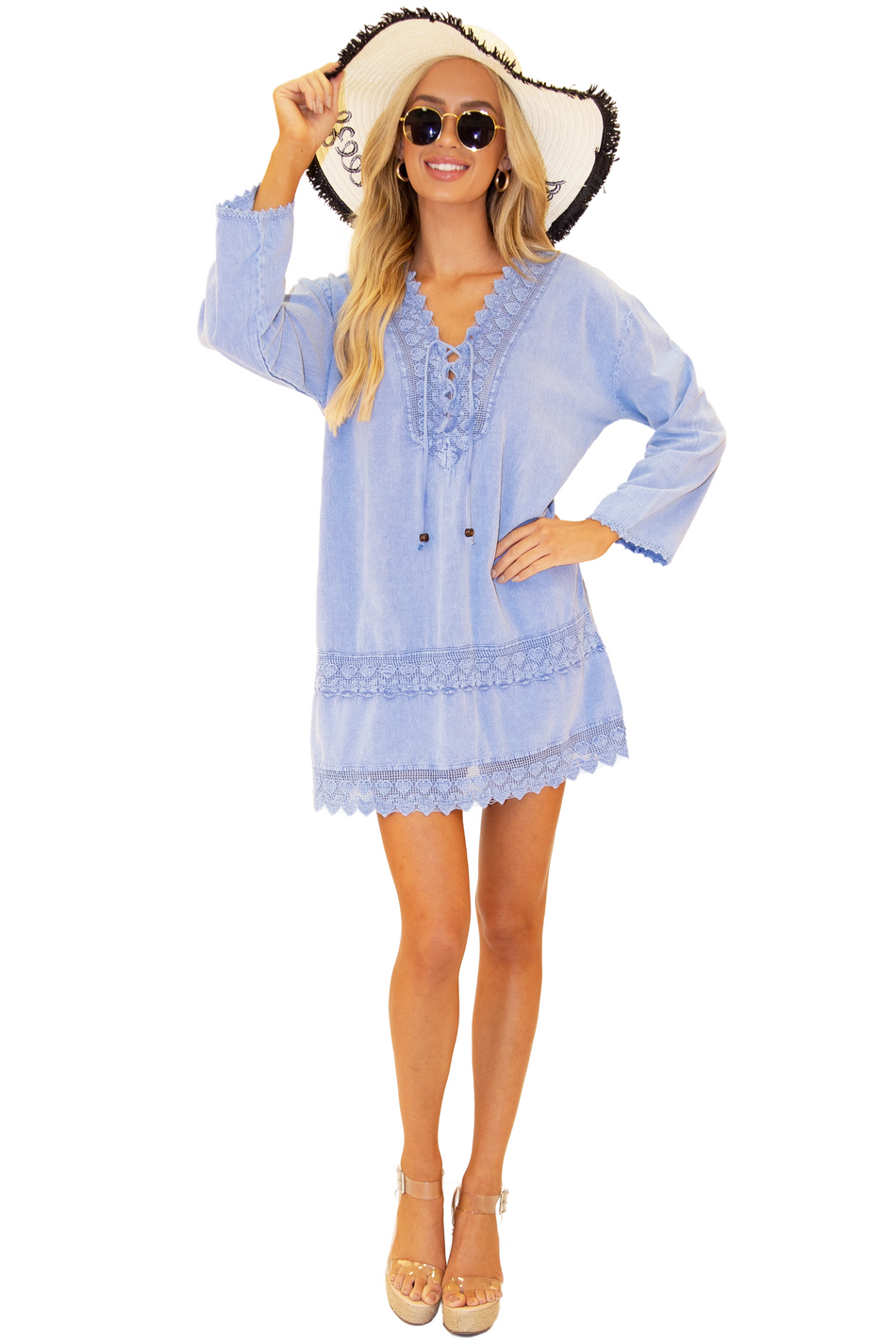 NW1101 - Blue Cotton Cover-Up