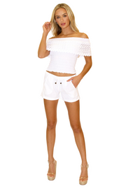 NW1120 - White Cotton Shorts
