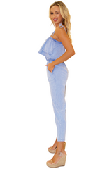 NW1123 - Blue Cotton Jumpsuit