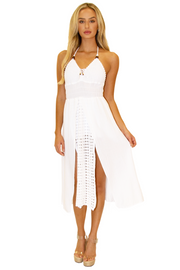 NW1143 - White Cotton Dress
