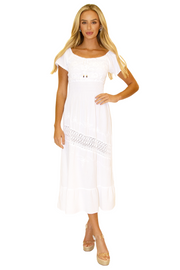 NW1144 - White Cotton Dress