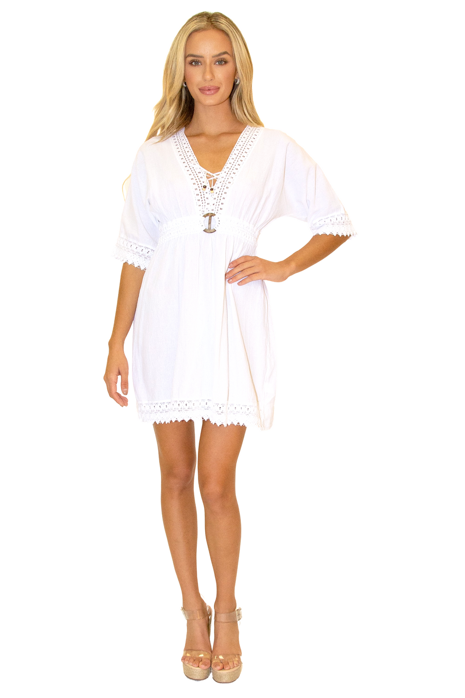 NW1148 - White Cotton Cover-Up