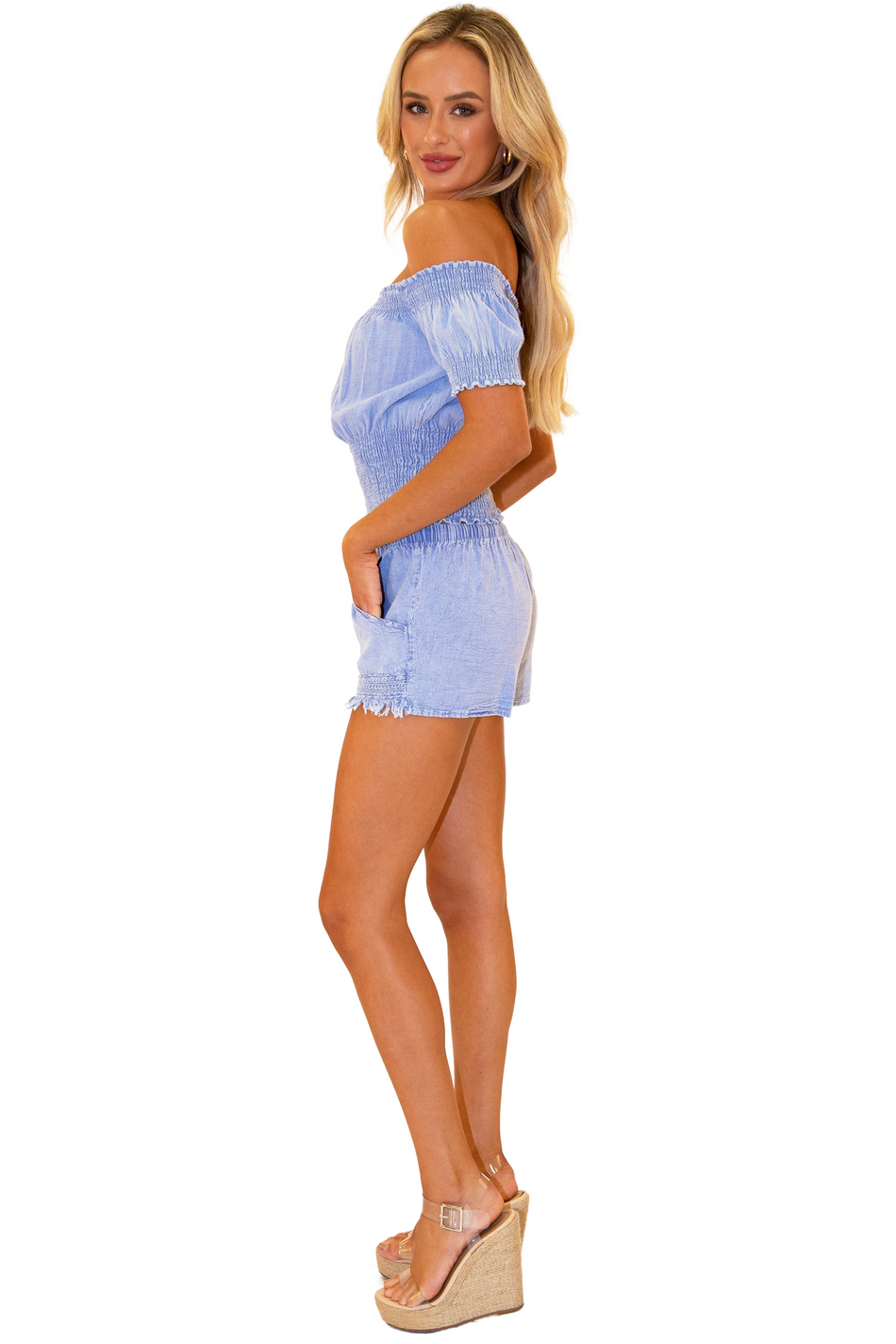 NW1075 - Blue Cotton Shorts