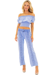 NW1175 - Blue Cotton Pants