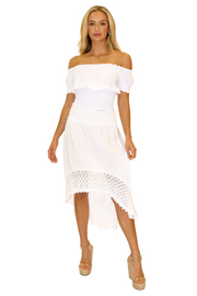 NW1053 - White Cotton Skirt