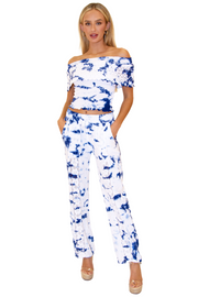NW1175 - Tie Dye Blue Cotton Pants
