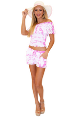 NW1163 - Tie Dye Pink Cotton Top