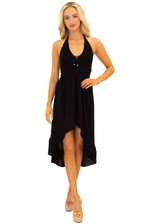 NW1169 - Black Cotton Dress
