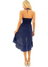 NW1169 - Navy Cotton Dress