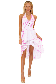 NW1169 - Tie Dye Pink Cotton Dress