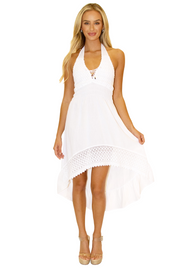 NW1169 - White Cotton Dress
