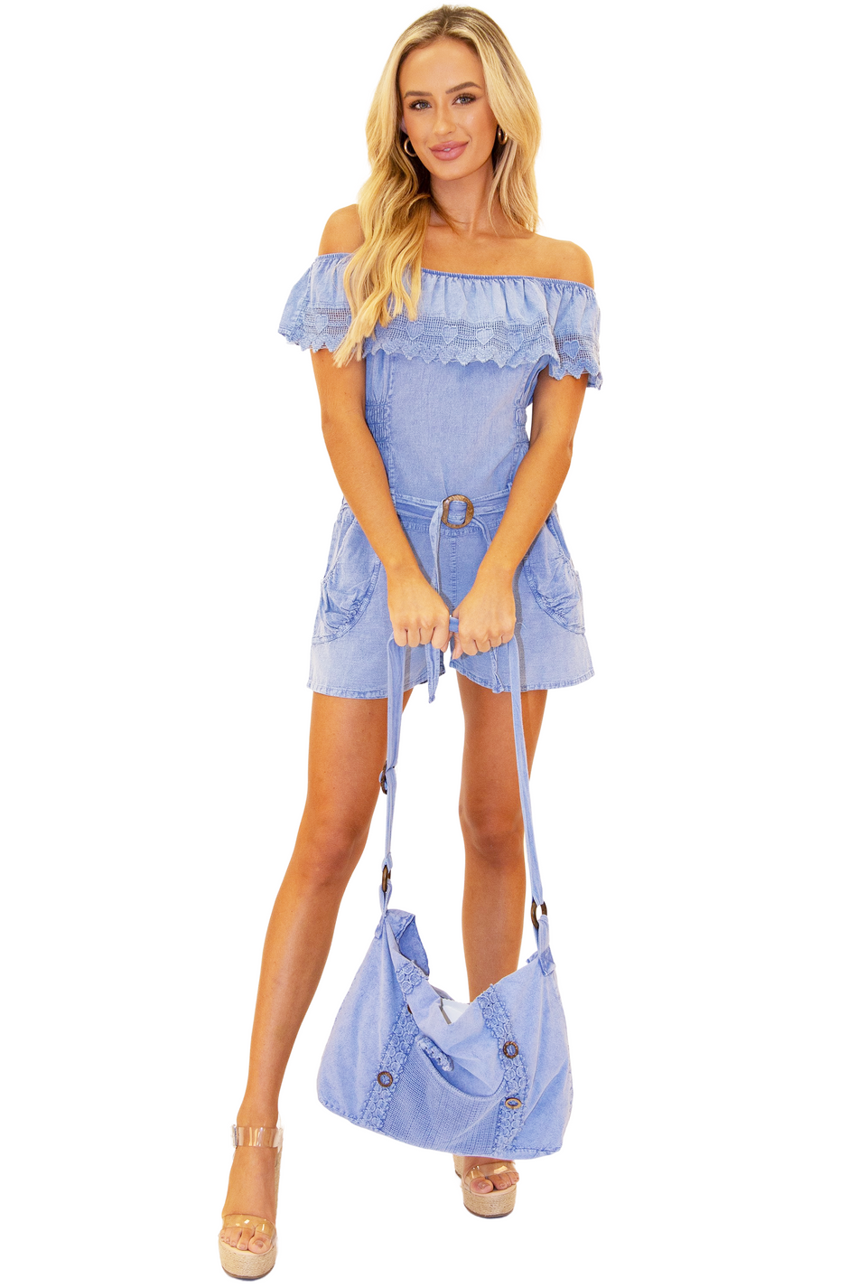 NW1173 - Blue Cotton Romper