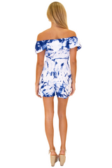 NW1173 - Tie Dye Blue Cotton Romper