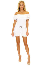 NW1173 - White Cotton Romper