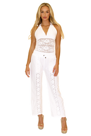 NW1175 - White Cotton Pants