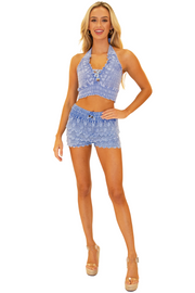 NW1087 - Blue Cotton Skort