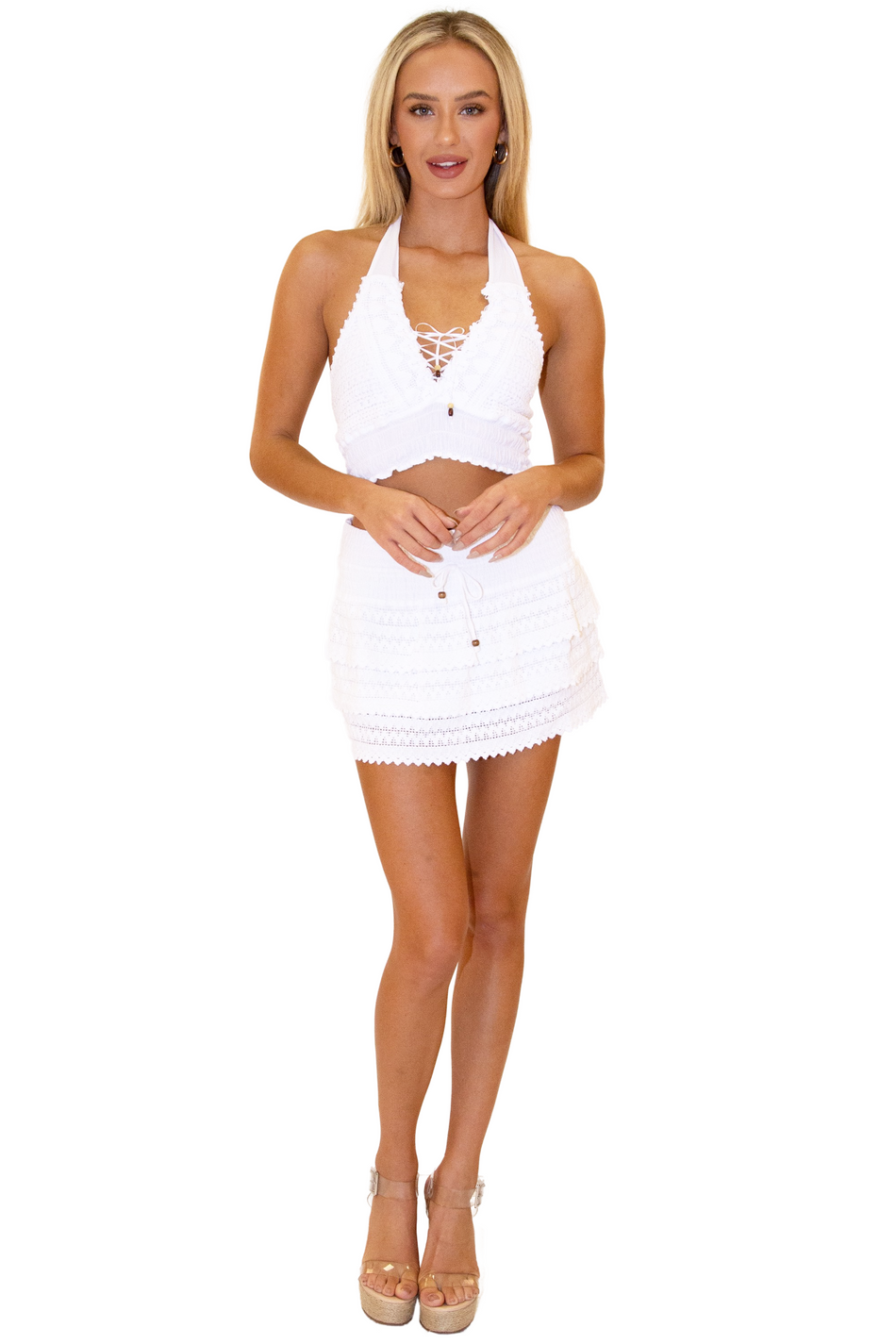 NW1031 - White Cotton Skirt