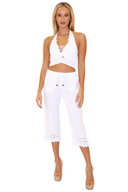 NW1076 - White Cotton Pants