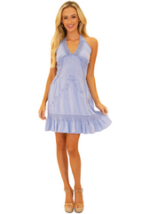 NW1206 - Blue Cotton Dress