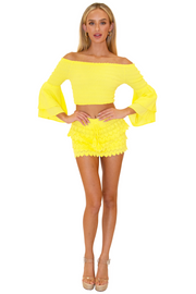 NW1087 - Yellow Cotton Skort