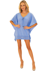 NW1246 - Blue Cotton Cover-Up