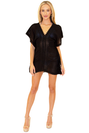 NW1263 - Black Cotton Cover-Up