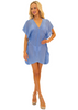 NW1263 - Blue Cotton Cover-Up