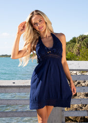 NW1264 - Navy Cotton Dress