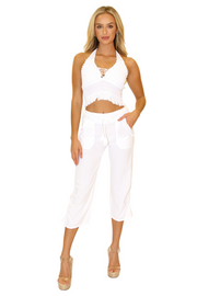 NW1283 - White Cotton Pants