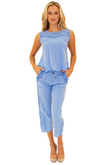 NW1269 - Blue Cotton Top