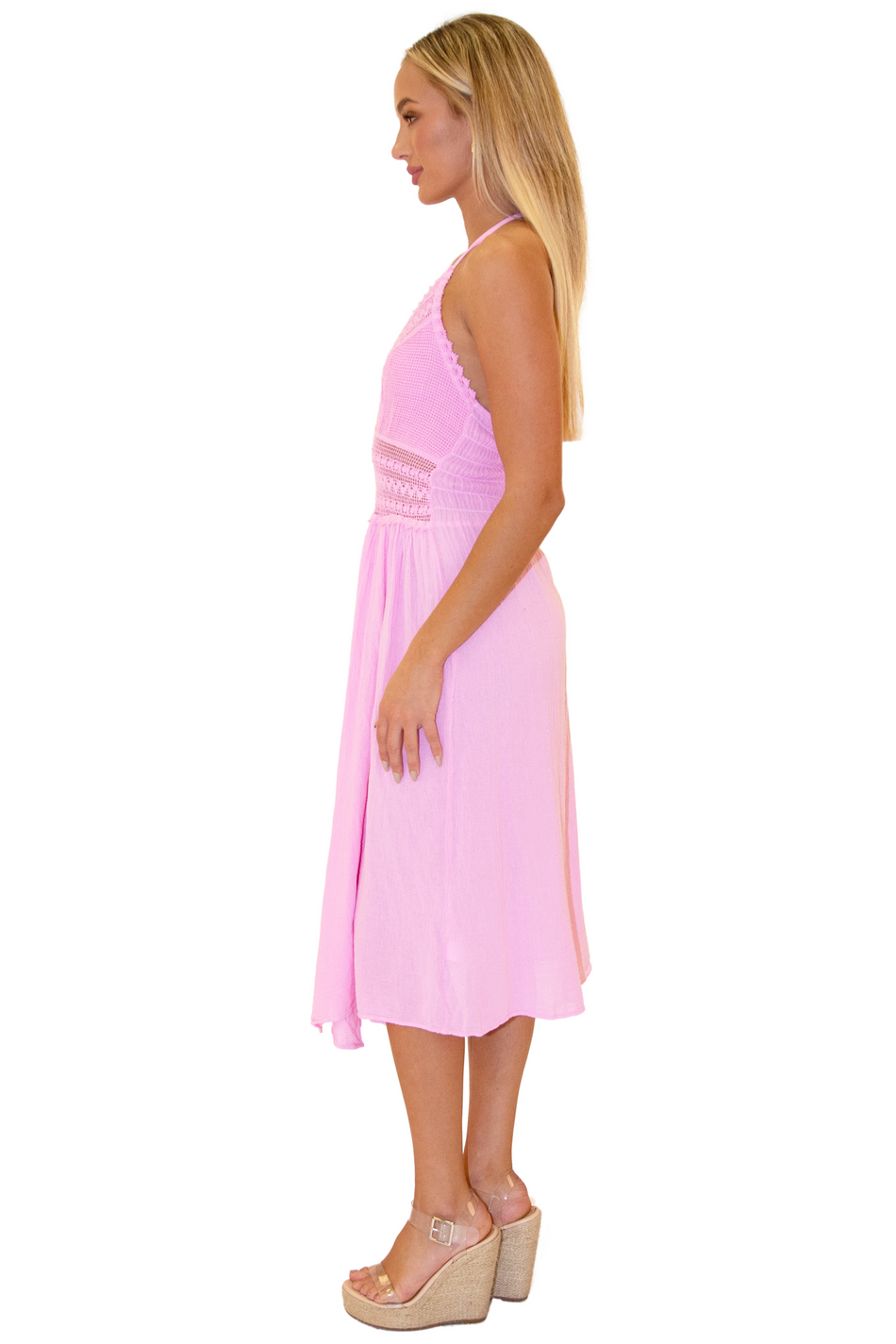 NW1273 - Pink Cotton Dress