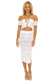 NW1281 - White Cotton Skirt