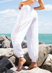 NW1326 - White Cotton Pants