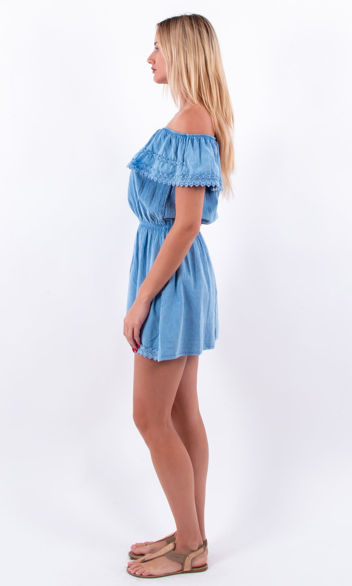 NW1084 - Blue Cotton Dress