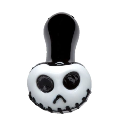 Chameleon Glass Hand Pipes White Jack Skellington Glass Pipe