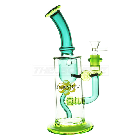 "10.5"" HoneyDew Glass Recurve Matrix Perc - The Source of All"