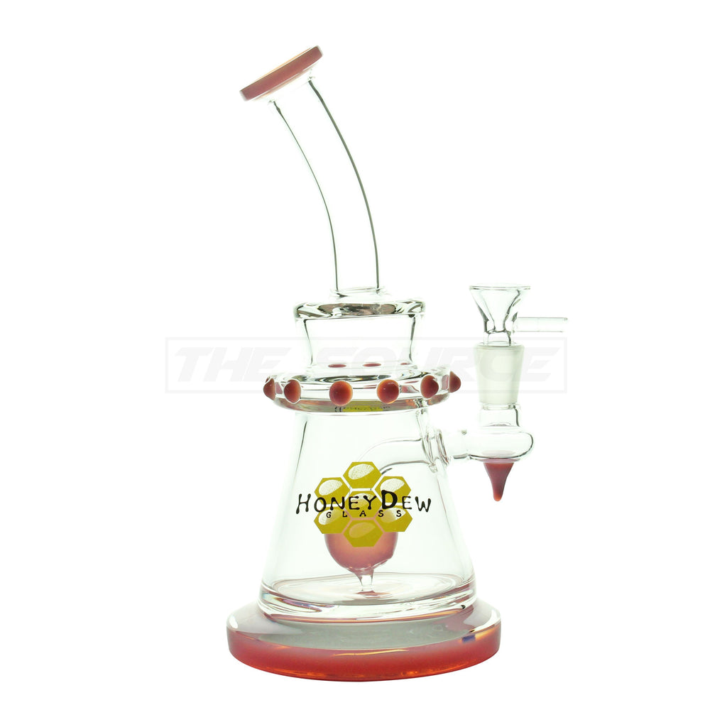 "10"" HoneyDew Glass Ball Perc Polka Dot Pink Water Pipe - The Source of All"