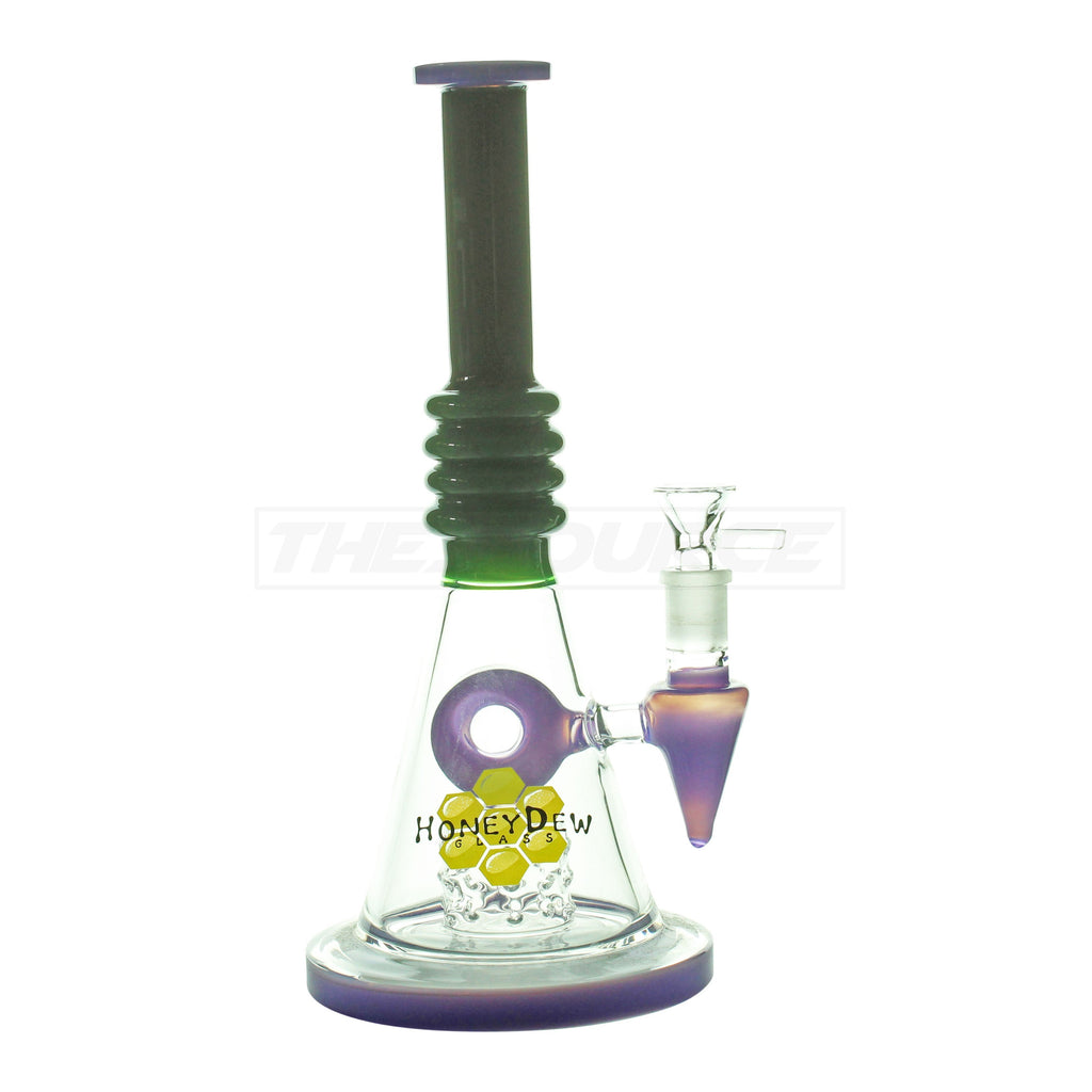"10"" HoneyDew Glass Matrix Perc Water Pipe - The Source of All"