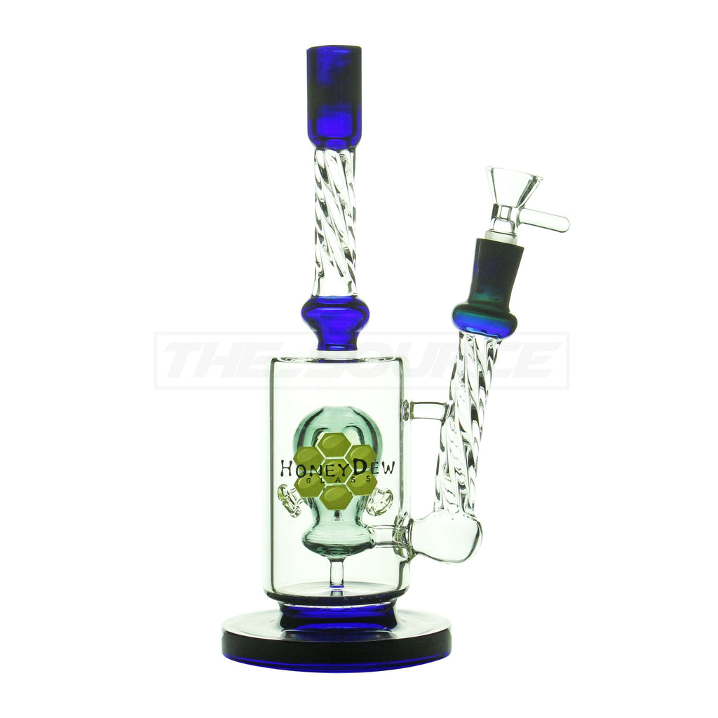 "11"" HoneyDew Glass Gas Mask Faberge Perc Water Pipe - The Source of All"