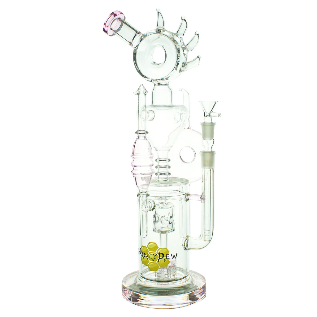 "15"" Pink Showerhead Perc to Swiss Perc Water Pipe - The Source of All"
