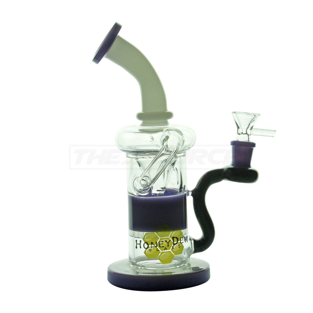 "9"" HoneyDew Glass HoneyComb Perc Recycler Water Pipe - The Source of All"