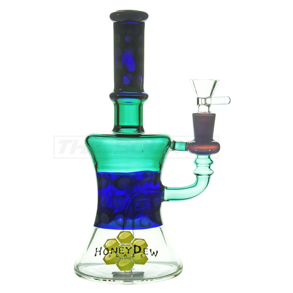 "10"" HoneyDew Glass Multi Colored Showerhead Perc - The Source of All"