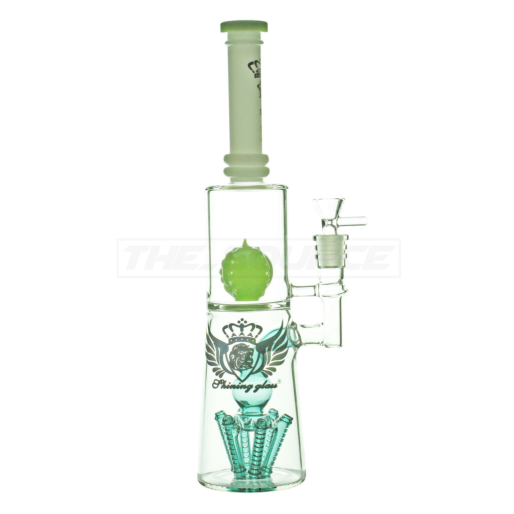 "15"" Shining Glass Multi Perc Water Pipe - The Source of All"