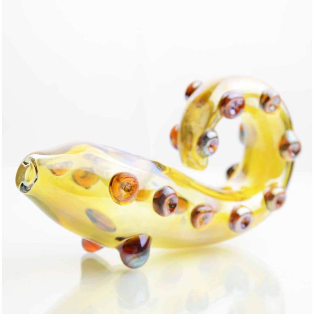 Smokerolla Hand Pipes Amber Tentacle Glass Pipe