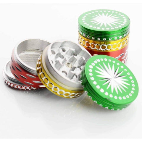 Smokerolla Herb Grinders 50 MM Diamond Cut Rasta Grinder